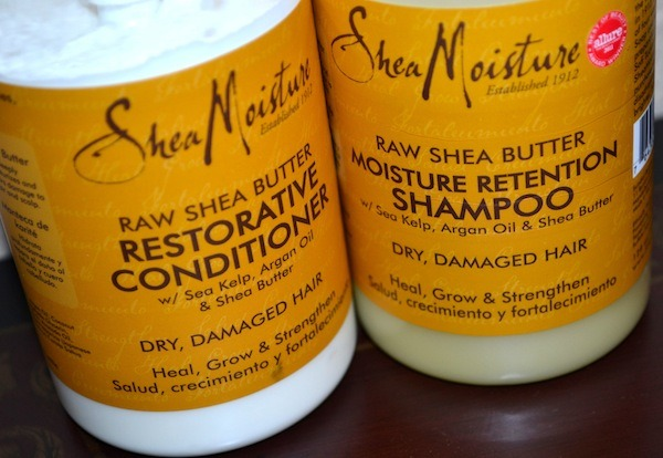 Shea Moisture Organic Raw Shea Butter Moisture Retention Shampoo & Conditioner