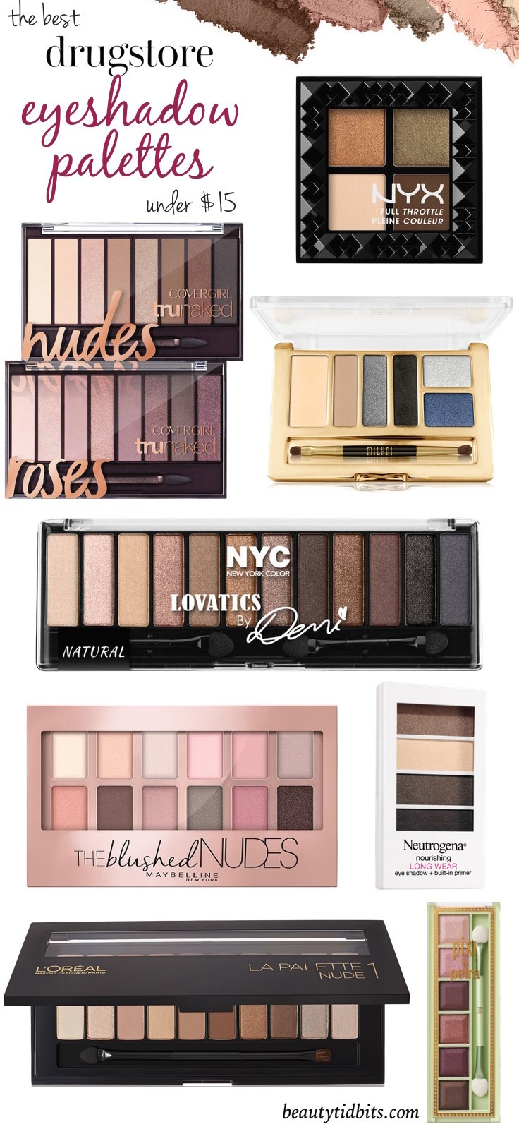 Looking for the best drugstore eyeshadow palettes? Here are 8 top-notch drugstore palettes that give you the best bang for your buck!