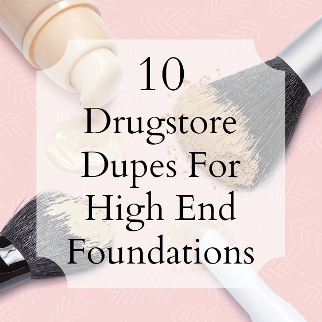 10 best drugstore foundation dupes that really live up to their expensive high-end counterparts! All of these foundations can easily be found in the drugstores for under $15 or less!