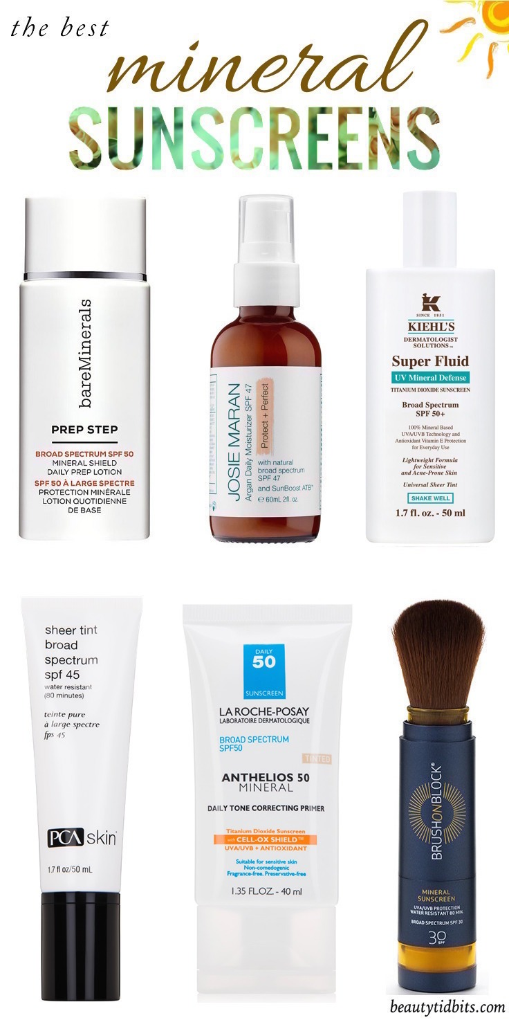 Looking for the best mineral sunscreen for your face? Click through for 7 tried-and-true physical sunscreens that won't leave your face pasty white, sticky or greasy! And there's one for every skin type, lifestyle and budget!