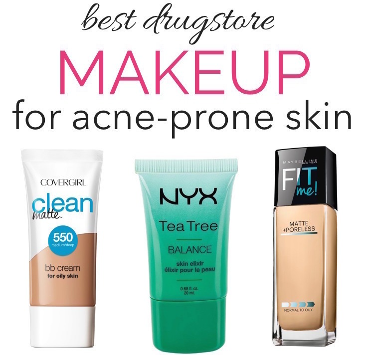 best drugstore makeup oily acne prone skin