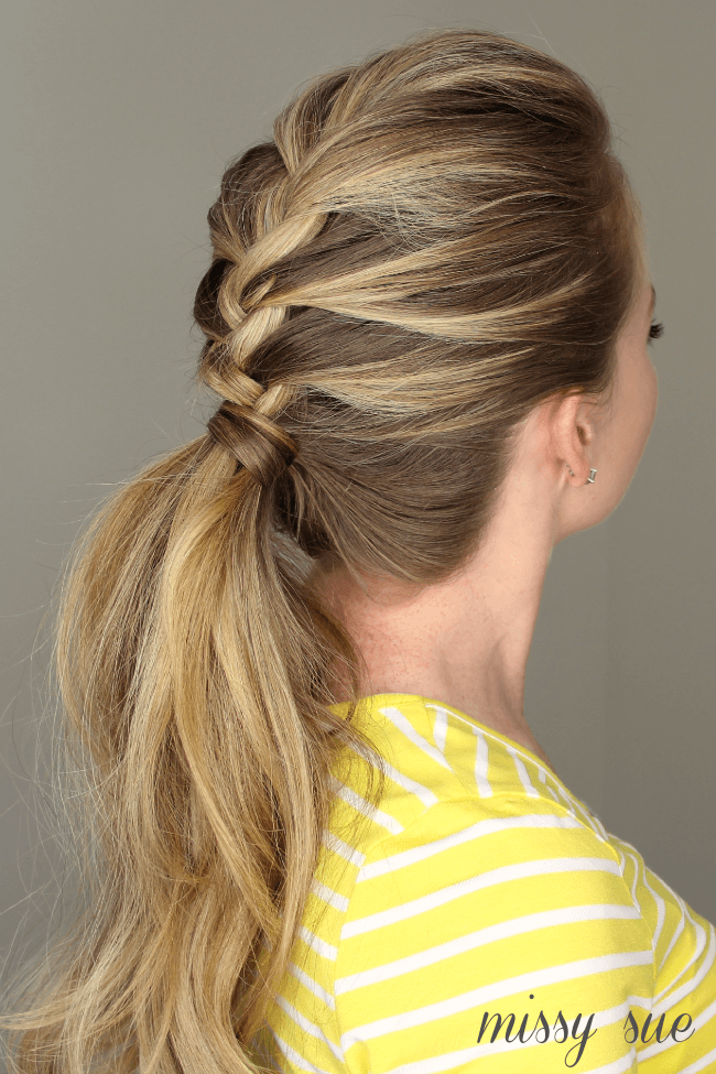 Easy Heatless Hair Styles for Long Hair | no-heat hairstyle, easy braided hairstyles, faux braids, faux braid tutorial, faux braided ponytail, how to braid your hair, fishtail braid, braided bun updo, twisted half-up, easy braid hair tutorial, french braid ponytail
