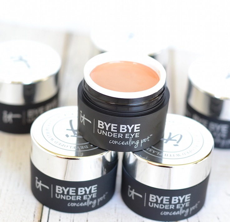 IT Cosmetics Bye Bye Under Eye Concealing Pot | From a NEW line smoothing foundation to an acne treatment+concealer and a redness erasing powder, IT Cosmetics Fall 2017 makeup and skincare launches are all about addressing your specific beauty concerns!
