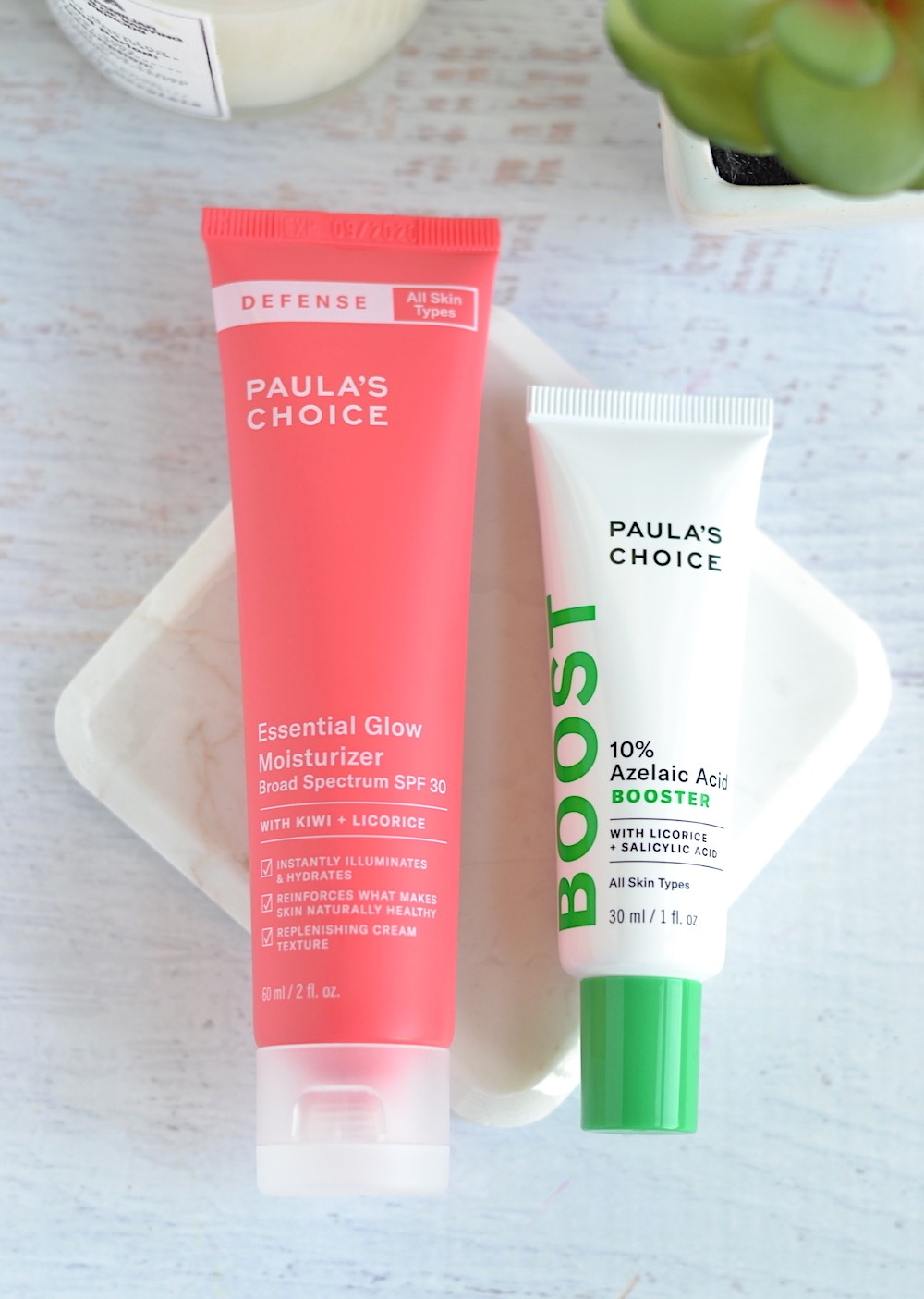 Paula's Choice 10% Azelaic Acid Booster and Essential Glow Moisturizer SPF 30