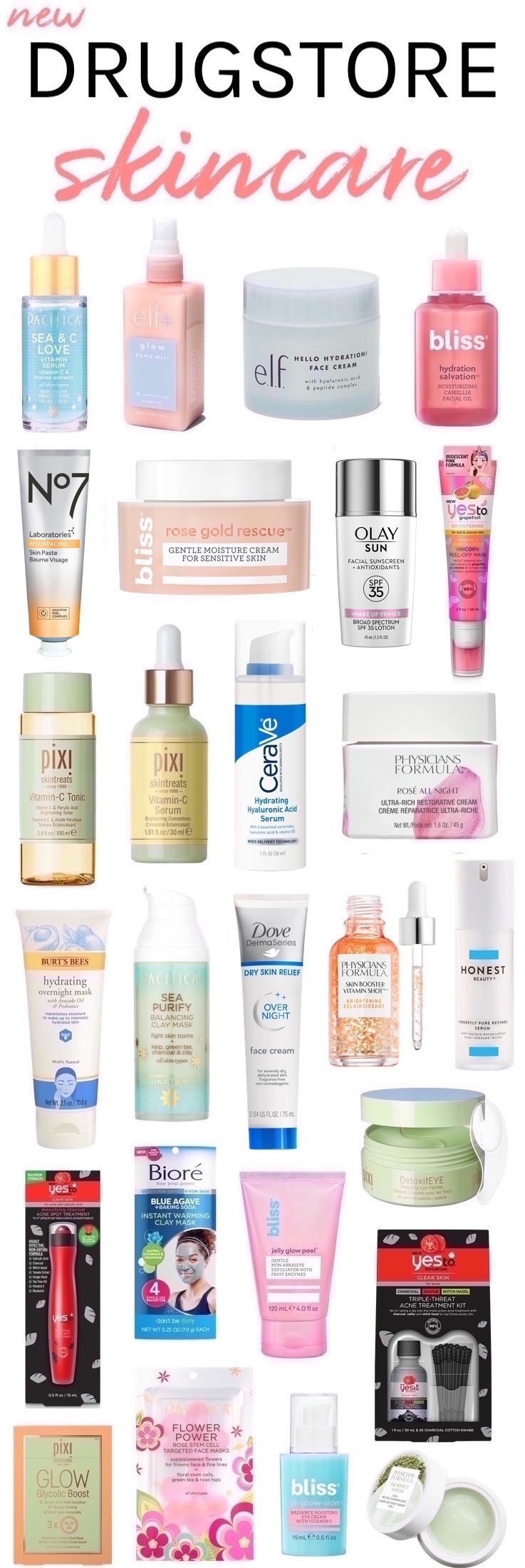 27 New Drugstore Skincare Picks You Won't Want to Miss! #drugstoreskincare #newdrugstorebeauty