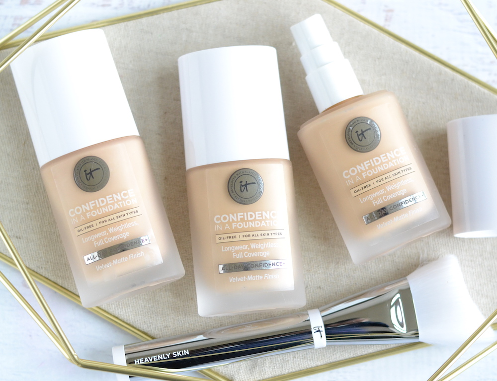 IT Cosmetics Confidence in a Foundation review and swatches