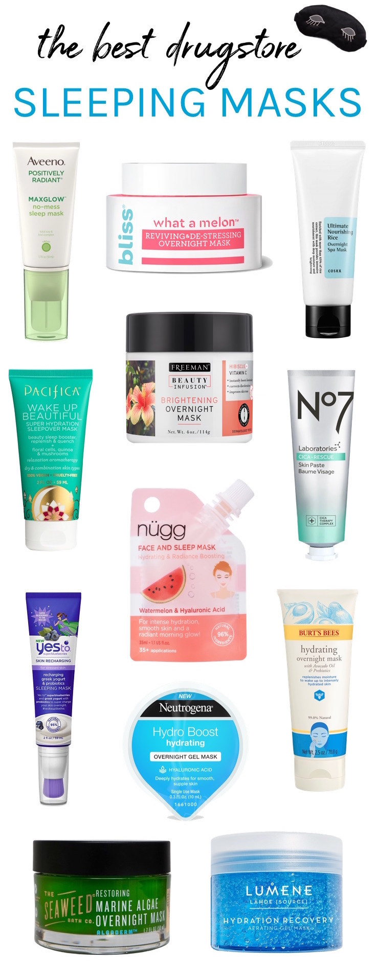 Best Drugstore Sleeping Masks To Get Glowing Skin Overnight