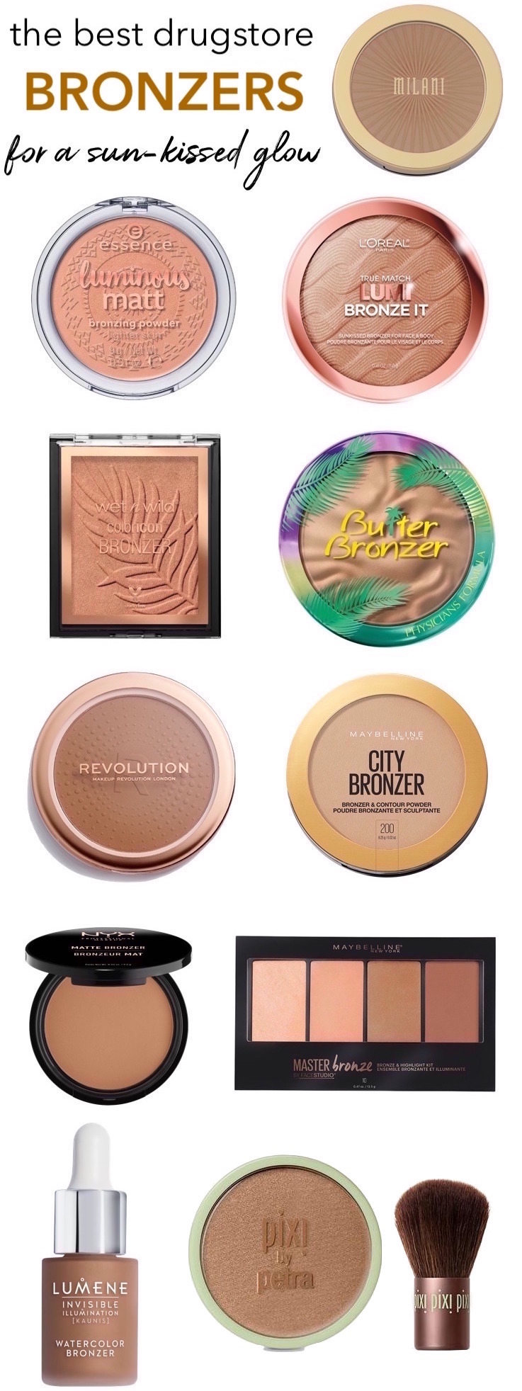 The Best Drugstore Bronzers For a Naturally Sun-Kissed Glow