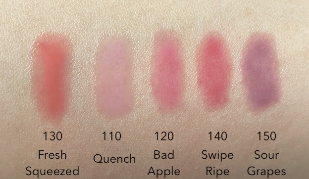 Covergirl Clean Fresh Tinted Lip Oil Swatches