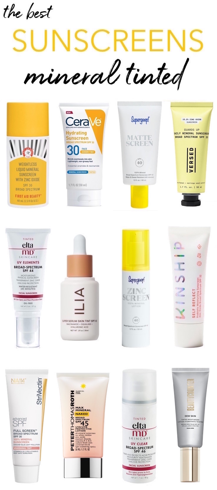 Best Mineral Tinted Sunscreens: Drugstore to High-End
