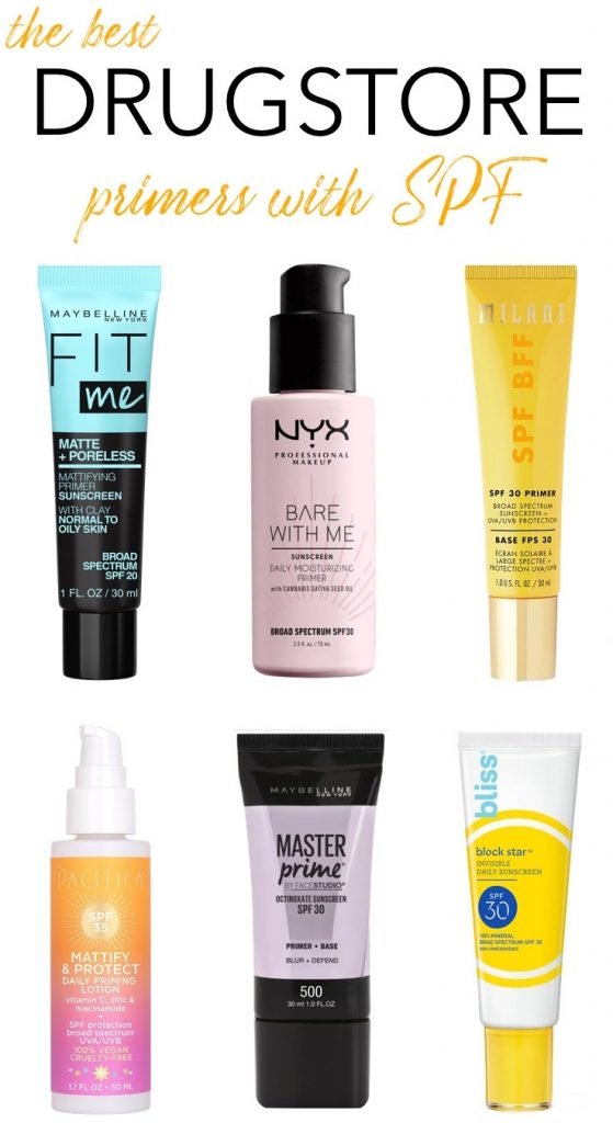 Best Drugstore Primers with SPF
